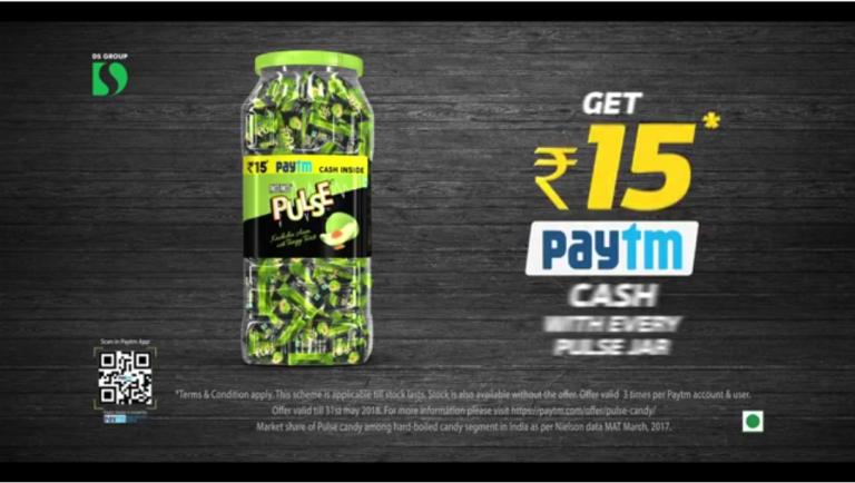 Paytm Pulse Cashback : Get 15 rs Cashback on Every Pulse Jar